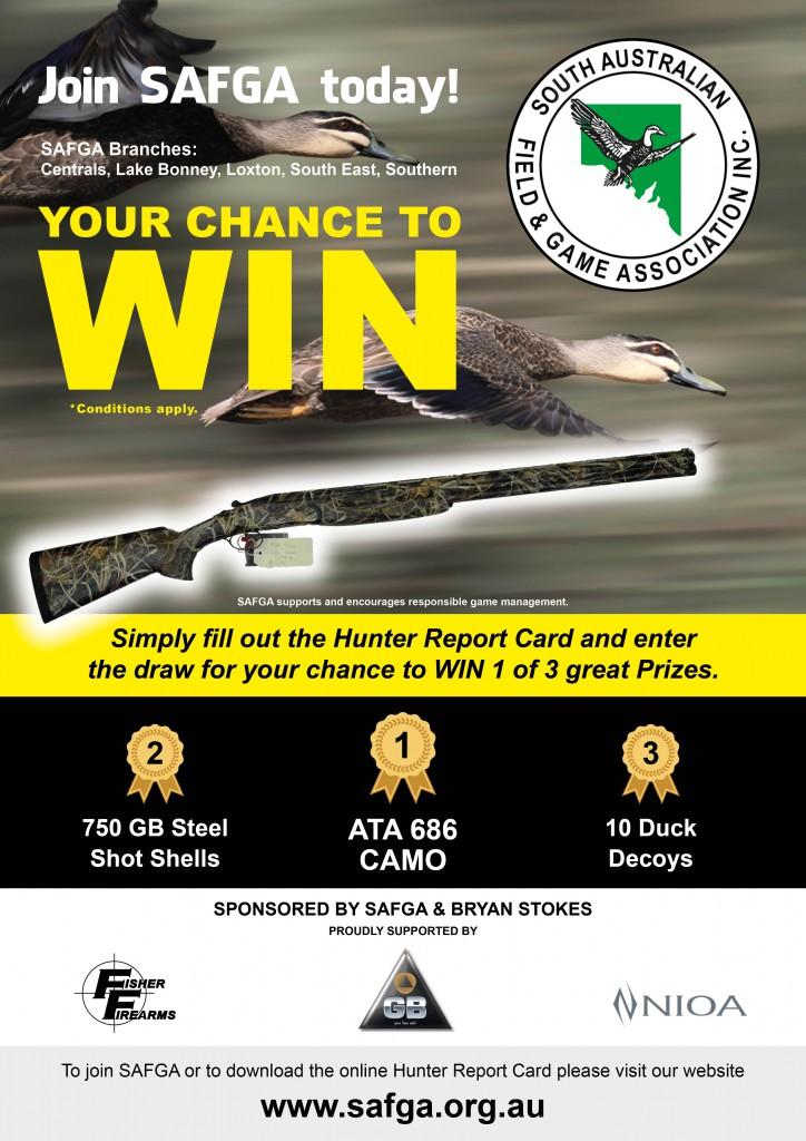 23759 Hunter Report Card Win a Gun poster