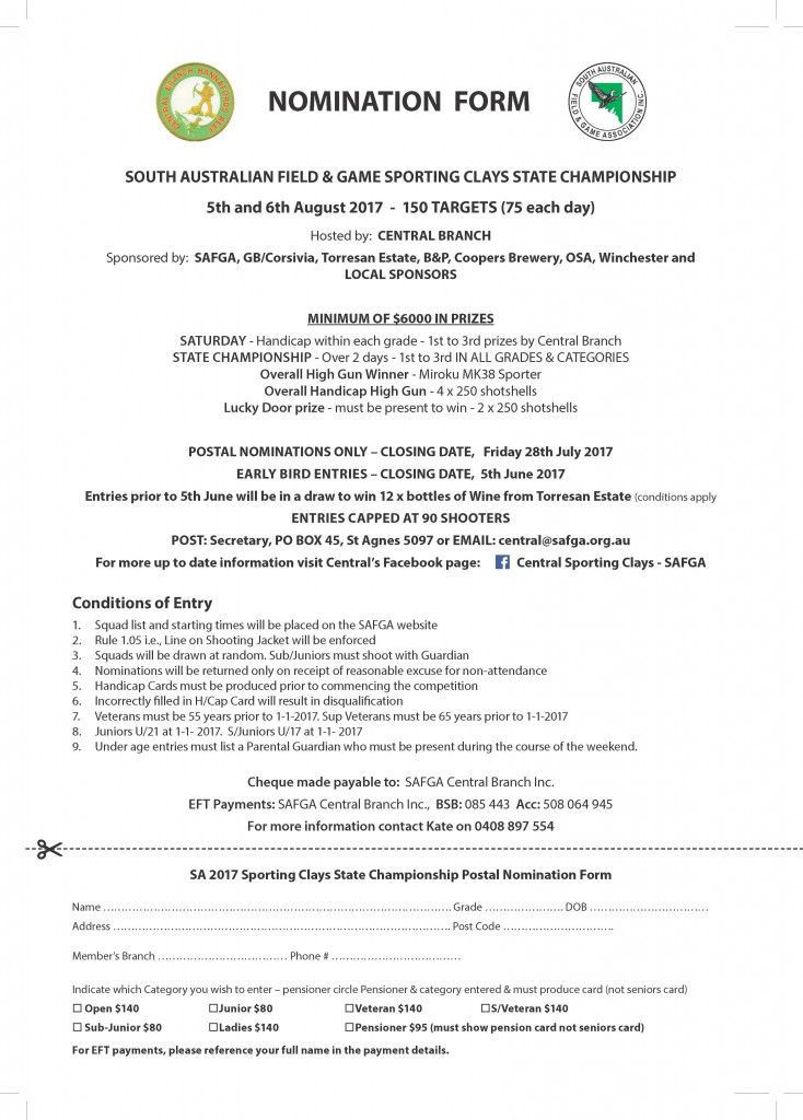 23884 SCA Magazine entry form
