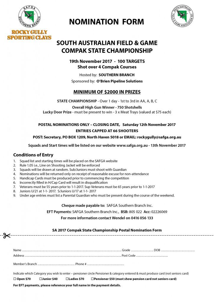 Compak Entry Form