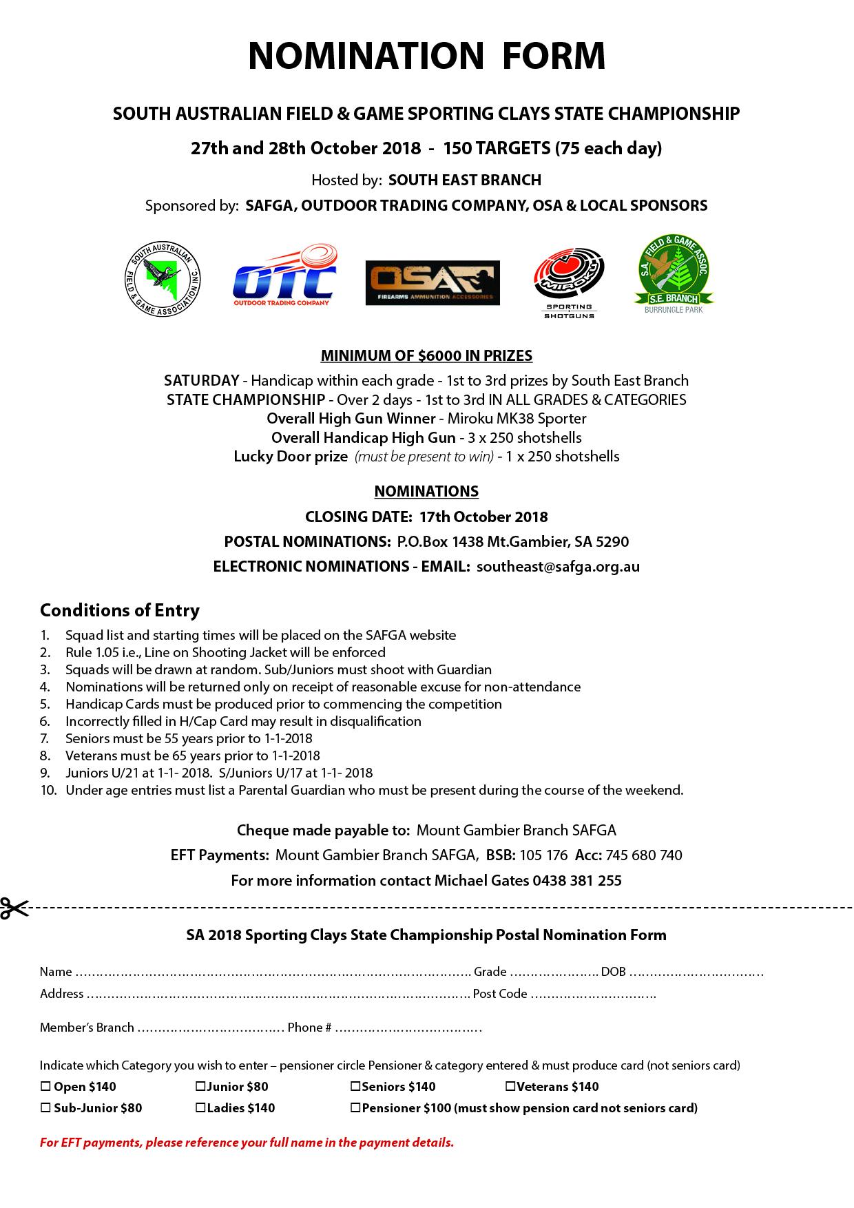 SCA Nomination form